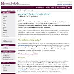 emporiaME: die App für Seniorenhandys
