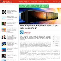 HPE emporte un nouveau contrat de supercalculateur