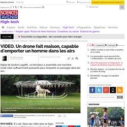 Un drone fait maison, capable d'emporter un homme dans les airs