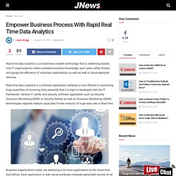 Power Up Business Process By Using Real Time Data Analytics