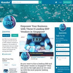 Empower Your Business with These 8 Leading ERP Vendors in Singapore!