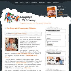 Language of Listening® Parent Training