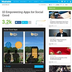 10 Empowering Apps for Social Good