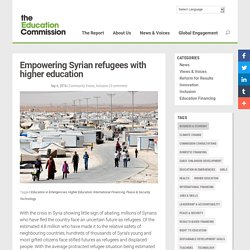 Empowering Syrian refugees with higher education