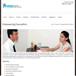 Empowering Counsellors
