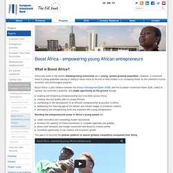Boost Africa - empowering young African entrepreneurs