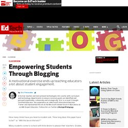 Empowering Students Through Blogging