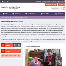 Empowering Students in Math - The Learning Exchange