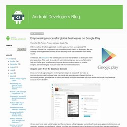 Empowering successful global businesses on Google Play