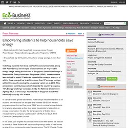 Empowering students to help households save energy