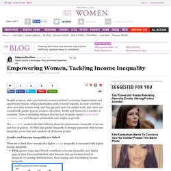 Empowering Women, Tackling Income Inequality