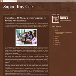 Importance Of Women Empowerment In Society Advancement