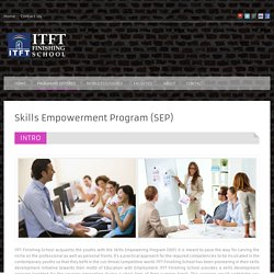 ITFT Finishing School - An ITFT Venture