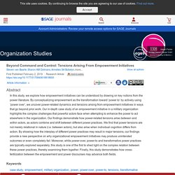 Organization Studies (SAGE Journals) by Steven van Baarle, Sharon AM Dolmans, Annelies SA Bobelyn and A Georges L Romme