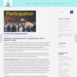 Le Principe d'empowerment - Organisations Positives