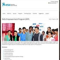 Skills Empowerment Program (SEP)