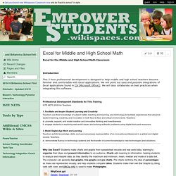 empowerstudents - Excel for Middle and High School Math
