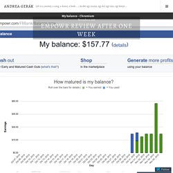 Empowr review after one week