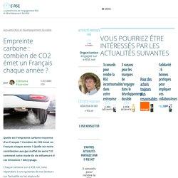 Empreinte carbone : combien de CO2 émet un Français chaque année ?