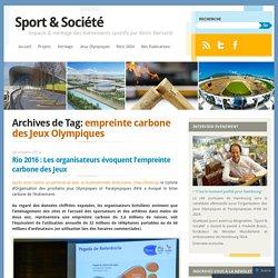 empreinte carbone des Jeux Olympiques