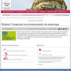 Réduire l'empreinte environnementale du numérique : un état des lieux inédit et une feuille de route pour la France- Sénat