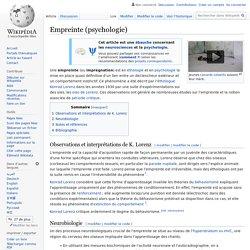 Empreinte (psychologie)