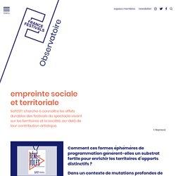 empreinte sociale et territoriale - Toutes les études - France festivals
