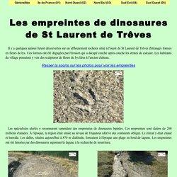 Les empreintes de dinosaures de St Laurent de Trêves