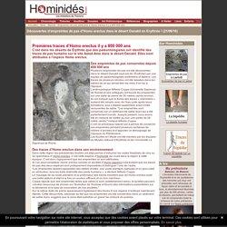 Empreintes de pas d'Homo erectus - 800000 ans - Erythrée