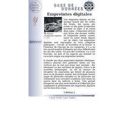 RCIP - Détective Interactif - Base de données - Empreintes digitales