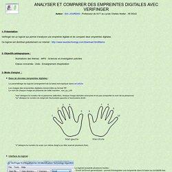 Analyser et comparer des empreintes digitales avec Verifinger