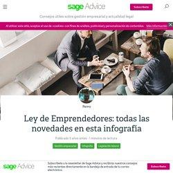 Ley de Emprendedores: todas las novedades en esta infografía - Sage Advice ES