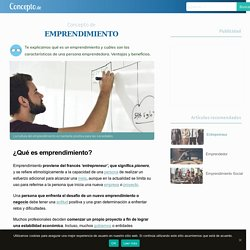 Emprendimiento - Concepto, características y beneficios