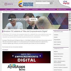 """Ministerio TIC adelanta el """"Mes del Emprendimiento Digital"""""""