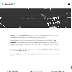 Proyecto de emprendimiento en restauración - CaixaBankLab