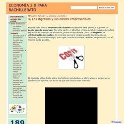 4. Los ingresos y los costes empresariales - ECONOMÍA 2.0 PARA BACHILLERATO