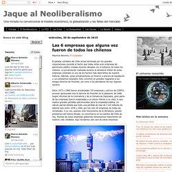 Jaque al Neoliberalismo: Las 6 empresas que alguna vez fueron de todos los chilenos