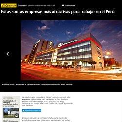 Las empresas más atractivas para trabajar en Perú por categoría