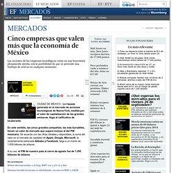 Cinco empresas que valen más que la economía de México