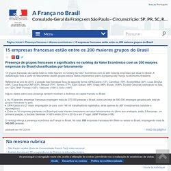15 empresas francesas estão entre os 200 maiores grupos do Brasil - La France au Brésil - Consulat Général de France à São Paulo