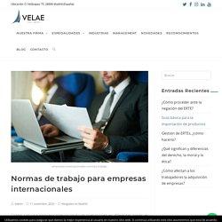 Normas de trabajo para empresas internacionales