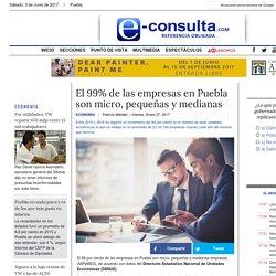 El 99% de las empresas en Puebla son micro, pequeñas y medianas