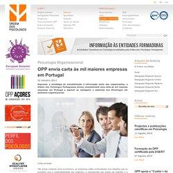 OPP envia carta às mil maiores empresas em Portugal