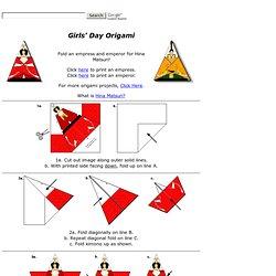 Empress and Emperor Origami for Girls' Day- Hina Matsuri