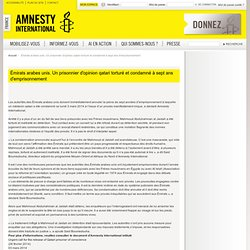 Émirats arabes unis. Un prisonnier d'opinion qatari torturé et condamné à sept ans d'emprisonnement