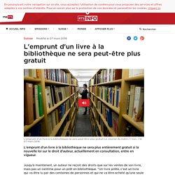 L'emprunt d'un livre à la bibliothèque ne sera peut-être plus gratuit - rts.ch - Suisse