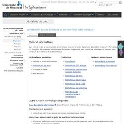 Prêt de matériel informatique à la bibliothèque de l'Université de Montréal