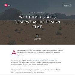 Why empty states deserve more design time