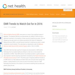 EMR Trends to Watch Out for in 2016