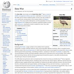 Emu War - Wikipedia